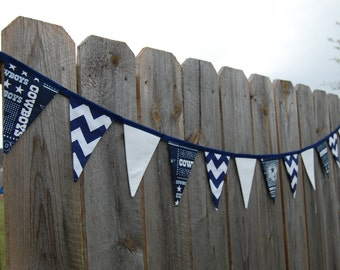 Dallas Cowboys banner, football party pennant, tailgate decoration
