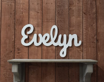 Penelope Baby Name Wooden Sign Nursery Decor Cursive Baby