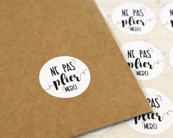 Set of 48 stickers tags, stickers, do not bend, packaging, packaging