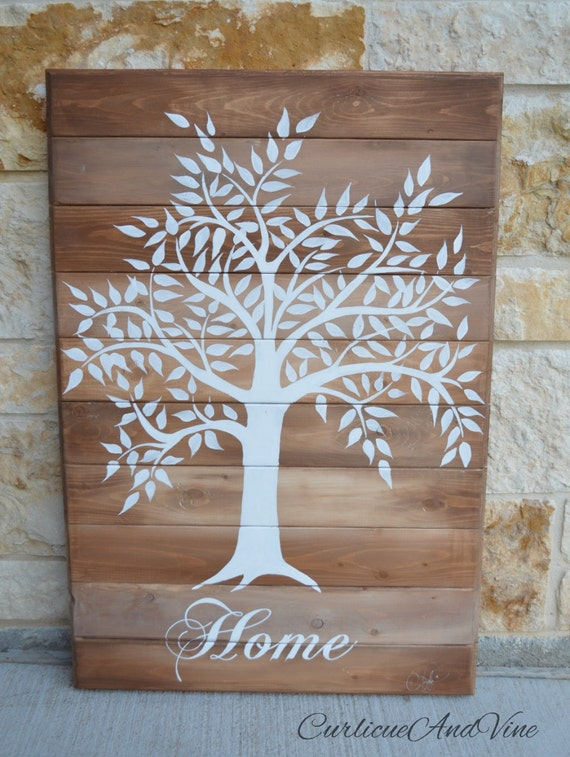 Family Tree-Pallet Board-Wedding Gift-Pallet Wall Art-Rustic Barnwood Decor-Tree Of Life-Flags-Shabby-Reclaimed Wood-Hand Painted