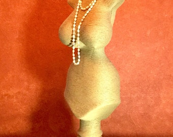 Paper Mâché Mannequin for Jewelry display! Hand made and Eco-Friendly!