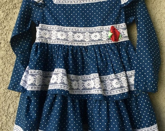 Blue polka dot Hi Girls Inc dress