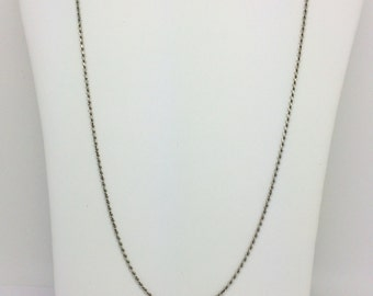 14K Solid White Gold Rope Chain