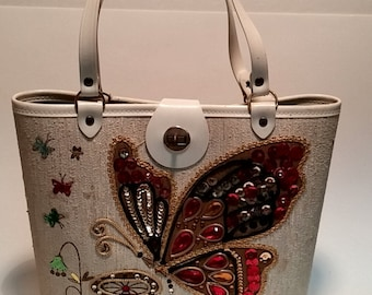 Cool 1960's Enid Collins Sequin Butterfly Purse/Handbag