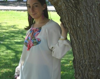 Ibís tunic pink Blouses, Tunic tops, Womens Clothing, Tops and Tees, Handmade