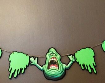 Ghostbusters Inspired Birthday Banner, Slimer banner, Ghostbusters inspired party decorations