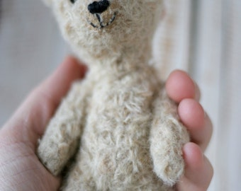 Teddy Bear Making Kit with natural fabrics colored with plants