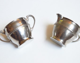 Charming Set of Vintage Creamer and Sugar Set, Cream and Sugar, Vintage Silver Royal Rochester Set, Vintage Tea Set, High Tea,