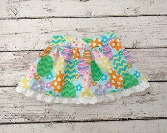 Girls Easter Skirt - Girls Easter Outfit - Easter Egg outfit - Easter Dress - Spring Outfit - cotton skirt - Easter photo shoot