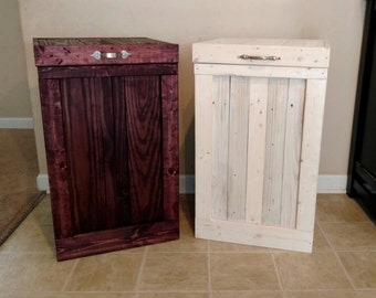 Delightful Wood Trash Can, Garbage Can, Kitchen Trash Can, Trash Bin, Recycling Bin
