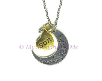 I Love You to the Moon and Back, Son - Necklace [P021]