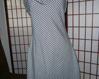 Women's Jumper - Black and White Checks