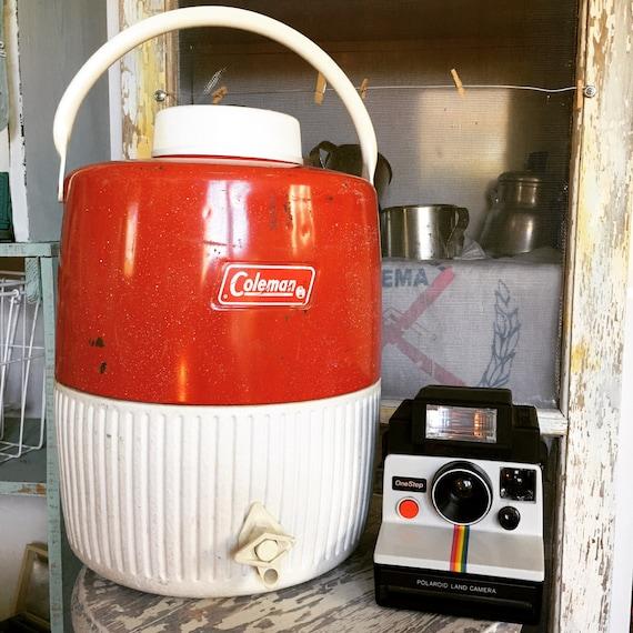 Vintage Coleman Water Jug Red Steel Cooler 3 Gallon