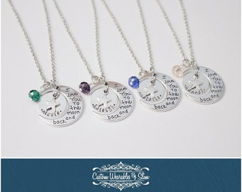 """CUSTOM """"I Love You To The Moon And Back"""" Necklaces"""