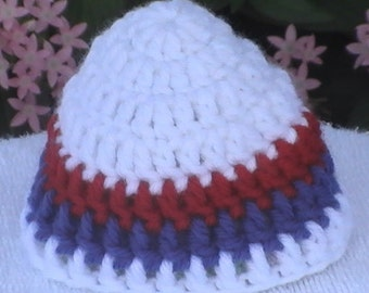 Red Blue and White Micro Preemie Hat