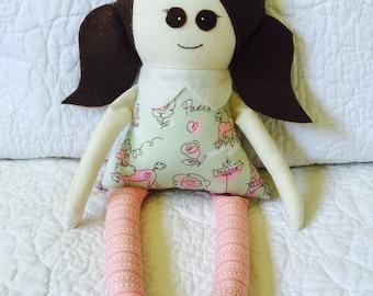 Poppy doll, handmade, FREE postage within Australia