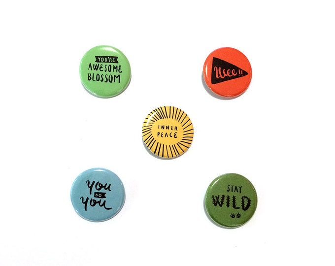 """Good Vibes Essential Kit Buttons 