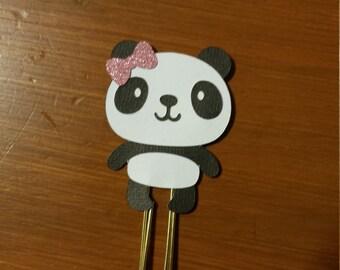 Panda Girl Planner Clip