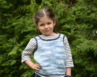 PDF pattern top « Star » for kids, with double straps summer for children