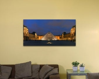 "Louvre Museum, France (12"" x 24"") - Canvas Wrap Print"