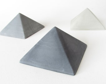 concrete pyramid - paperweight & gift