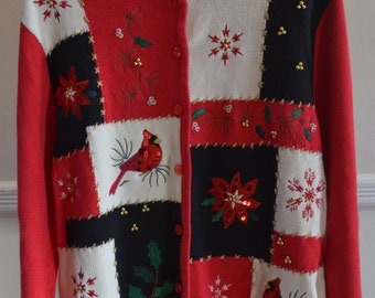 Vintage Christmas Cardigan On Sale! (Original Price 35.00)