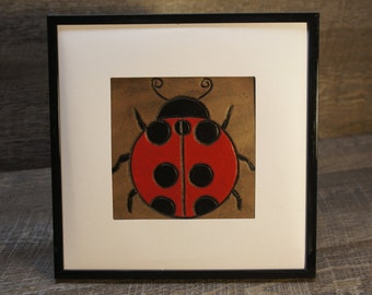 Tooled and Painted Ladybug
