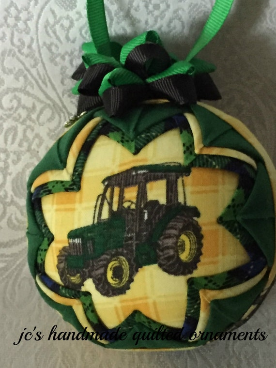 John Deere Tractor Wood Ornaments : John deere quilted ornament made from by