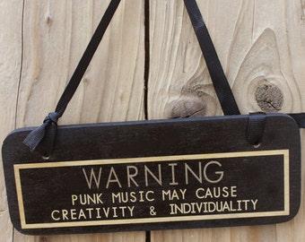 Warning punk - punk goth sign