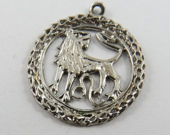 Leo the Lion Sterling Silver Charm or Pendant.