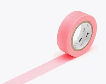 MT Washi Tape Shocking Red, MT Washi Tape, Japanese Washi Tape, MT Tape, Deco Tape, mt Masking Tape, Washi Tape 15mm, Red Washi, Neon Tape