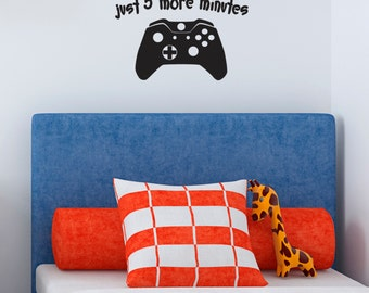 Fun Games Console Controller Wall Sticker - Just 5 more mins decal