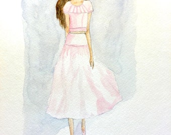 Fashion Illustration: Carolina Herrera Blush