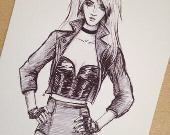 Black Canary - A5 art print