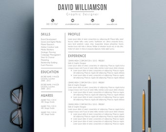 resume template cv template with cover letter and reference letter for word