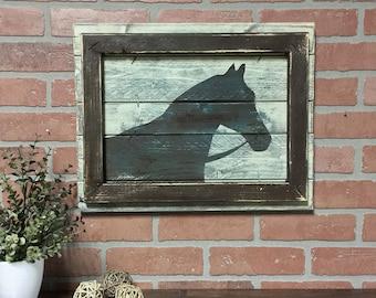 EQUESTRIAN DECOR//Horse decor//Horse painting//Fixer Upper style//farmhouse decor