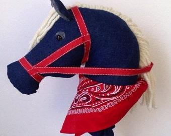 """36"""" Denim Cowboy Stick,  Equestrian, Gift, Birthday, Cowgirl"""