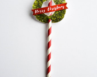 The Boxwood - Christmas Straws | Pack of 10