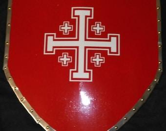 Medieval Crusader Curved Heater Shield