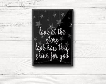 Look at the Stars Coldplay QUOTE INSTANT DOWNLOAD