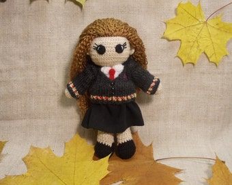 Hermione Granger Crochet Doll Portrait doll Personalized gift  Hogwarts Rowling teenage gift Harry Potter Witchcraft Wizardry MADE TO ORDER