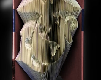 US Marine Corps Emblem - Folded Book Art Pattern - Instant Download!