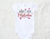 Daddy's little valentine, Baby's first valentine's day, kisses, love, hearts, be mine, cupid
