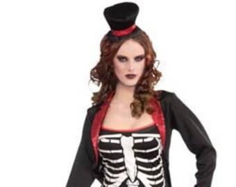 Adult Ms. Bone Jangles Costume/ Women's Skeleton Costume/ Adult Day of the Dead Costume/ Dia de los Muertos Costume/ Skeleton Bones Costume