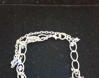 Adorable Swarovski Crystal Bracelet with Crown Charm