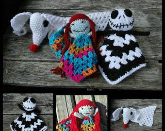 Nightmare before christmas doll/crochet/fandom/ amigurumi/jack/ zero/ sally