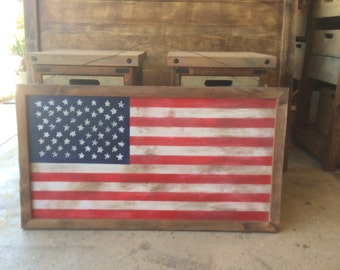 Rustic United States Flag