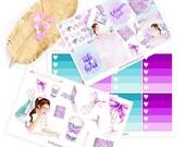 Wochen Kit Sticker für kikki k, filofax, Happy planner, Erin Cndren, Planner girl Sticker