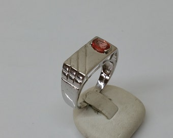 Elegant Silver ring 925 with Crystal orange SR742