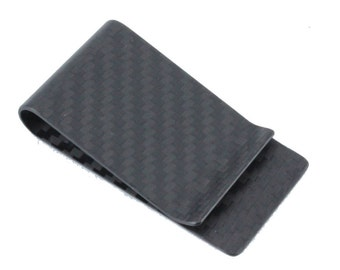 Money Clip, Carbon Fiber Money Clip, RFID Blocking, Identity Theft Protection, Card Holder, Matte, Protected Cards